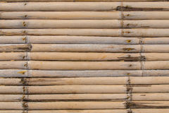 Texture wall of bamboo, with rusty old nails. Stock Photography