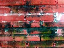 Textures  natures. Bricks wall from rural Royalty Free Stock Photo
