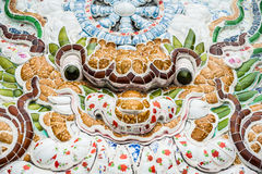 The texture of a wall in  Buddhist temple in Asia ceramic tile Royalty Free Stock Photography
