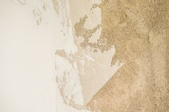 The texture of the wall - cement, plaster, putty royalty free stock photo