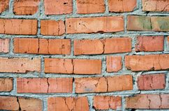 The texture of a wall composed of red brick Stock Photos