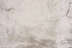 Texture of a concrete wall with cracks and scratches which can be used as a background. Texture, wall, concrete, it can be used as a background. Wall fragment stock photo