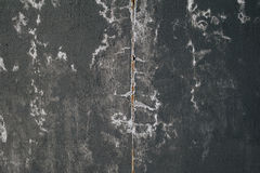 Texture of wall covered with black paint Royalty Free Stock Photography