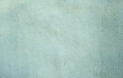 Texture of wall covered with green plaster Stock Photo