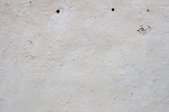 Texture of wall covered white stucco Royalty Free Stock Photo