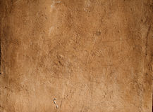 Texture of wall covered with yellow  plaster Royalty Free Stock Photography
