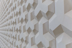 The texture of the wall of geometric shapes Royalty Free Stock Photos