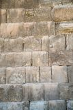 The texture of the Wall of Herod`s period on the Temple Mount in Jerusalem. Judaism stock photography