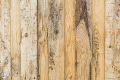 Texture of the wall made of wooden boards arranged vertically, the surface of the wood is poorly worked, many wood fibers and Stock Image
