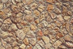 Texture wall of many stones Stock Photo