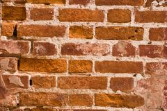 Texture wall of red brick Royalty Free Stock Image