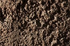 Texture, wall, relief, red, mortar, plaster, old, hard, concrete, rough, background, surface, design, cement, sand, stone, abstrac. Red texture on the wall stock photo