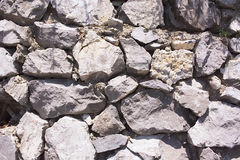 Stone wall pattern image,stone wall pattern picture,  masonry, stone wall pattern viewing, texture, wallpaper. Typical embodiment of the retaining wall to dry Royalty Free Stock Photo