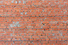 The texture of the walls of the construction of porous brick reinforced reinforcement royalty free stock photos