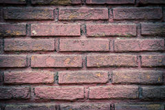 Texture walls of red brick Royalty Free Stock Images