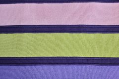 Texture of warm knitted striped clothes stock photography