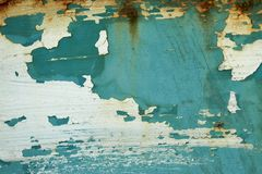 The texture was metal corrosion and peeling paint. The texture was blue metal corrosion and peeling paint Stock Photos