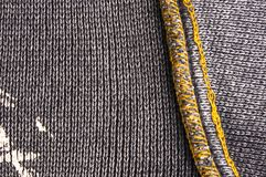 Texture of a washed thick knit fabric Stock Images