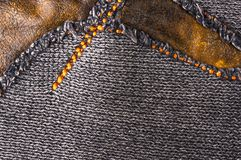 Texture of a washed thick knit fabric Stock Image
