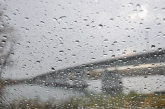 Texture water drops glass rain Royalty Free Stock Photos