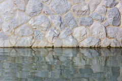 Texture of water and rocks royalty free stock images