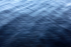 Texture water with small waves of blue Royalty Free Stock Photo