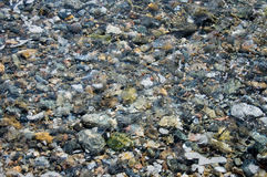 Texture of water and stones Royalty Free Stock Photo