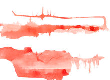 Texture watercolor smear in terracotta tones  on white background Royalty Free Stock Image