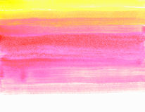 Texture watercolor smear in yellow-pink tones isolated on white background Royalty Free Stock Photo