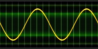 Texture wave oscilloscope Stock Image