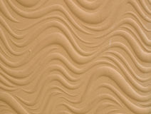 Texture of wave pattern's white cement bas relief wall Royalty Free Stock Photo