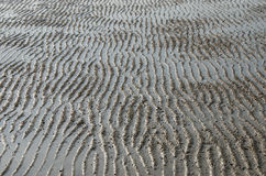 Texture Wave On The Sand Shoal. Stock Photography
