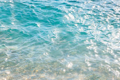 Texture of wavy blue sea Stock Photography