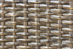 Texture weave of rattan closeup Royalty Free Stock Images