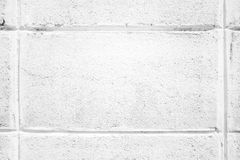 Texture of white block on wall Royalty Free Stock Photography