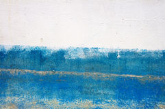 Texture white and the blue painted iron wall. Royalty Free Stock Photography