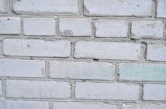 Texture of white brick. Spraying on the wall close-up Stock Photo