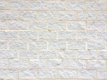 Texture of a white bricks wall Royalty Free Stock Photography