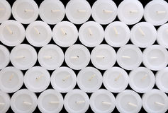 The texture of white candles. Stock Photography
