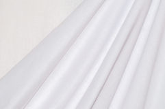 Texture white cotton drapery Stock Image