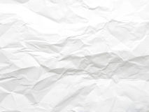Texture of white crumpled paper Stock Images