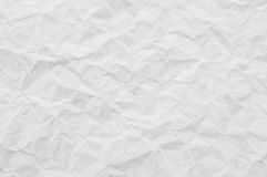 Texture of white crumpled paper for background Stock Image