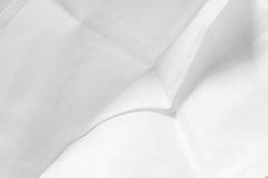 Texture of white damask cloth napkin Stock Photo