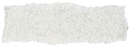 Fiber Paper Texture - White with Torn Edges Stock Photos