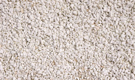 A texture of white gravel closeup Royalty Free Stock Image