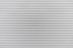 Texture of white hard plastic grate, abstract pattern background.  stock image