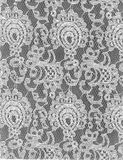 Texture White Lace Pattern Grey Background Stock Photography