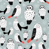 Texture of white owls Royalty Free Stock Photos