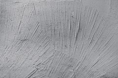 Texture of white putty on the wall stock photo
