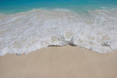 Texture of white sand with crystal clear water. Sea wave on beac. H at Tachai Island of Southern Thailand Stock Photo